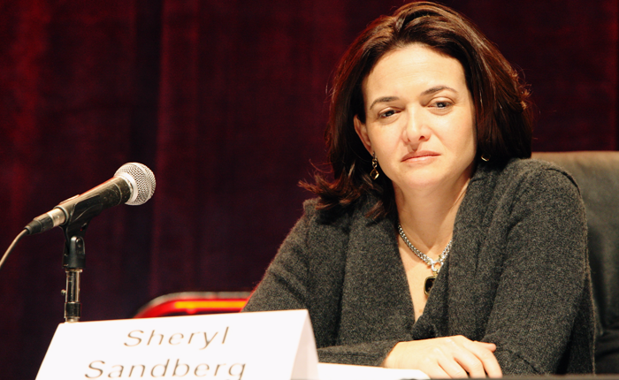 Sandberg, shown on a judging panel.