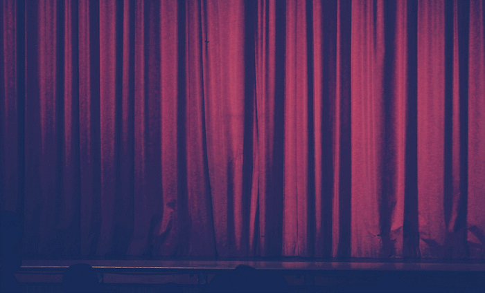 Curtains on a stage.