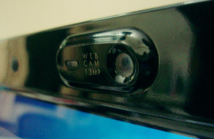 Close-up of a web cam.