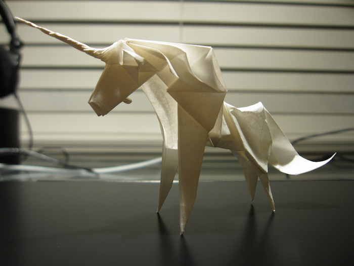 An origami unicorn.