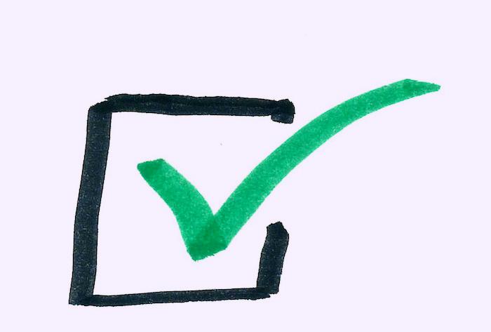 A check box.