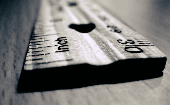 Edge of a ruler.