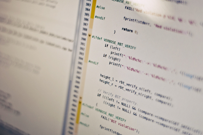 Code in a text editor.