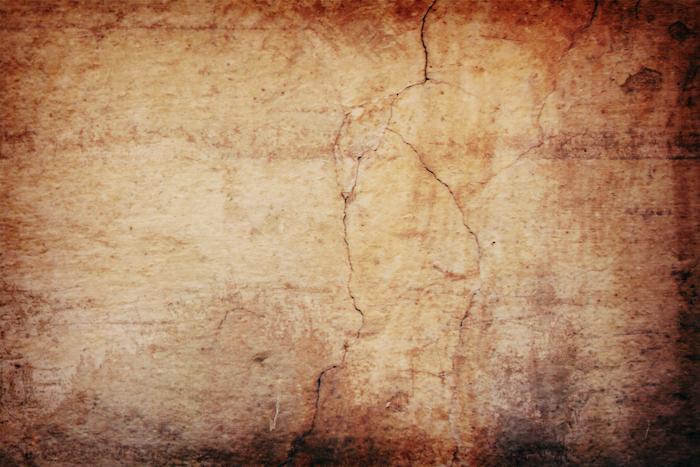Cracks in stone.