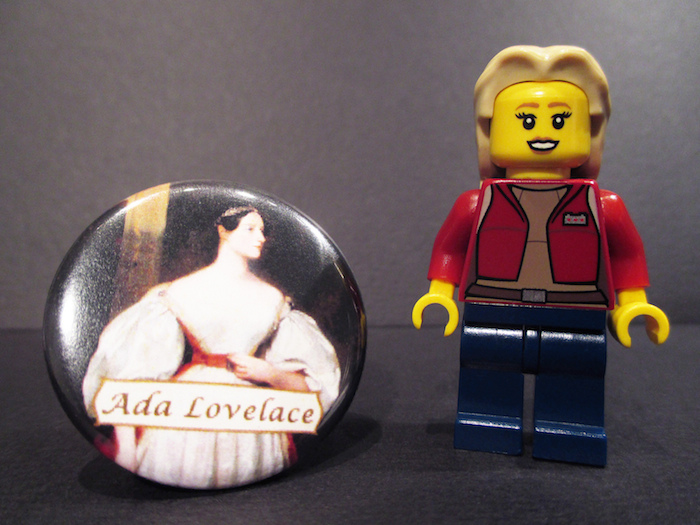 Lego figure of Ada Lovelace.