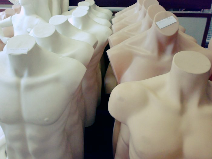 Series of mannequins.