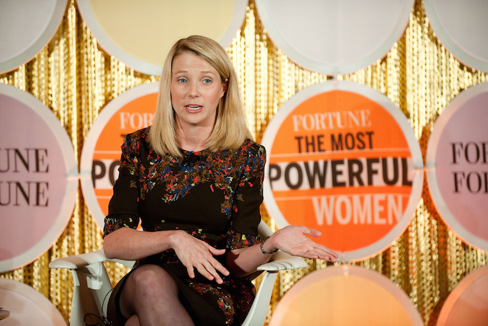 Photo of Marissa Mayer at the Fortune Most Power Women event.