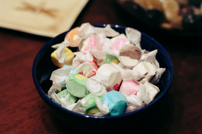 Bowl of candy.