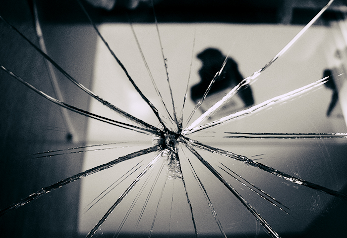 Image of shattered glass.