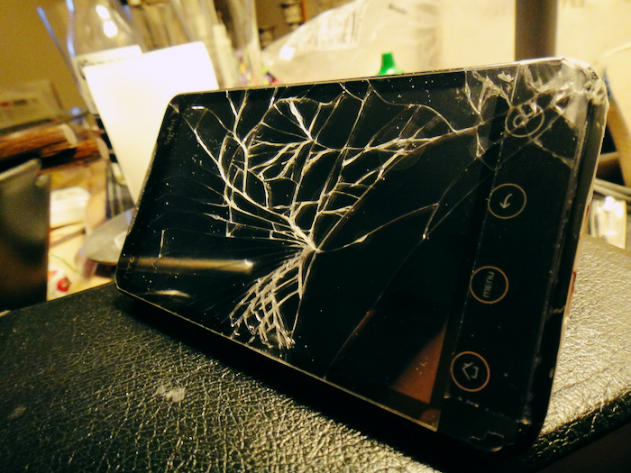 A shattered tablet.