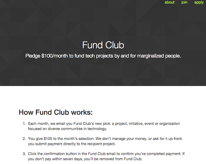 Fund Club home page.