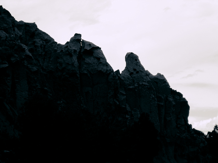 Treacherous-looking set of cliffs.