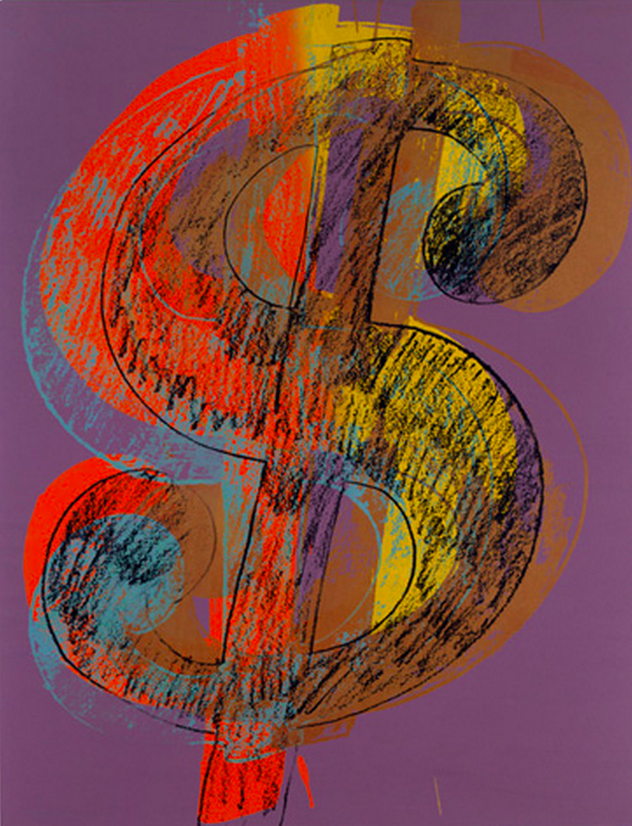 Warhol's painting of a large dollar sign.
