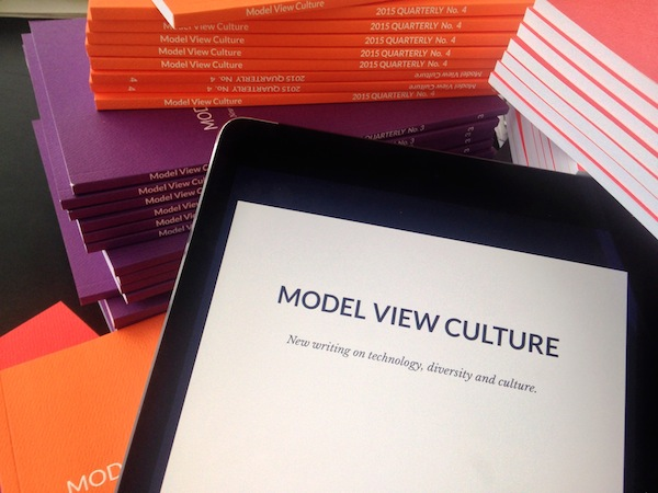 Model View Culture Quarterly displayed on an iPad.