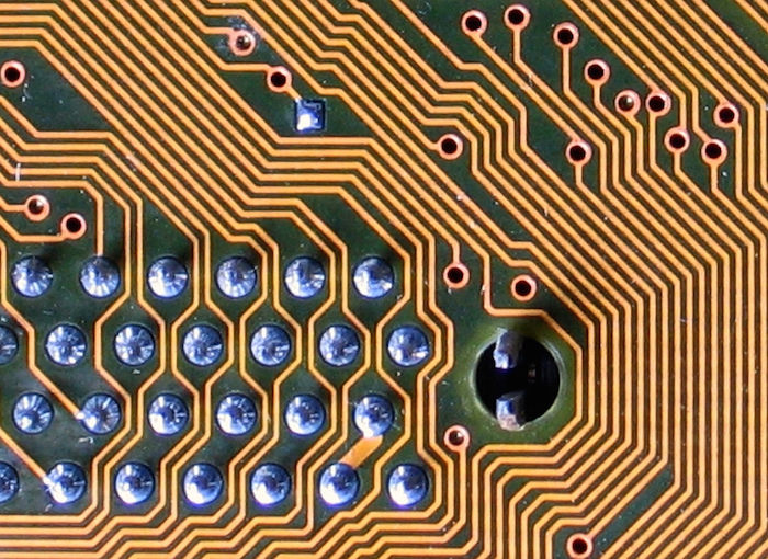 Close-up of a circuit board.