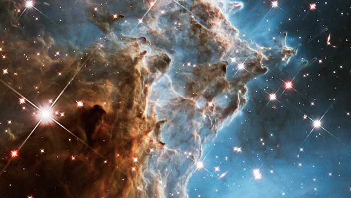 Photo of the Monkey Head Nebula: looks like large, intricate and beautiful billows of smoke against brilliant stars.
