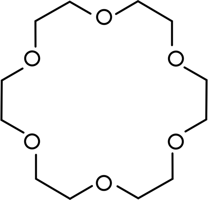 Scientific diagram of a crown ether.