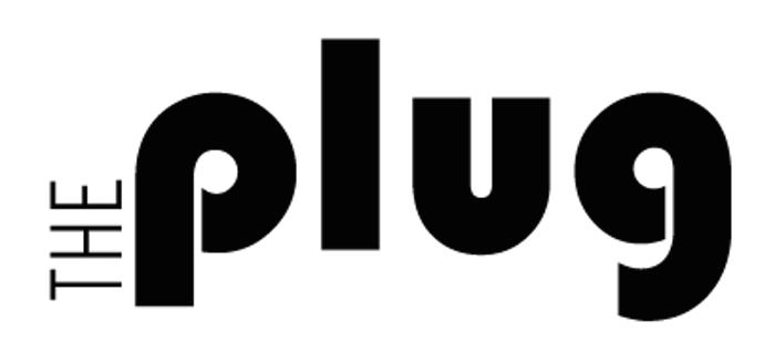 The Plug logo: the name in block letters.
