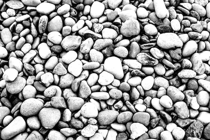 Stones in a riverbed.